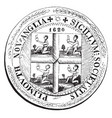 an old colony seal of new plymouth vintage vector image vector image