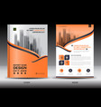 annual report brochure flyer templateorange cover vector image vector image