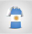 argentina flags shirt design vector image