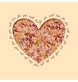 Autumn grapevine heart design Floral love card vector image
