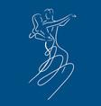 balroom dancers couple vector image vector image