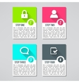 bright infographic cards set in modern flat vector image vector image
