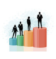 business people at different levels vector image vector image