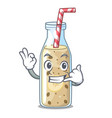 call me sweet banana smoothie isolated on mascot vector image vector image