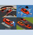 car tuning 2x2 design concept vector image vector image