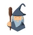 cartoon wizard icon vector image
