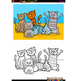 cats animal characters group coloring book vector image vector image