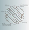 Circle infographic template askew divided to five vector image vector image
