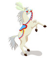 circus horse isolated on white background vector image