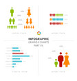 collection of infographic people elements vector image
