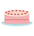 delicious cake isolated icon design vector image
