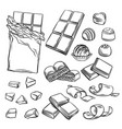 different kinds chocolate vector image