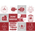 donation blood collection vector image vector image