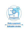 e-payment concept icon vector image vector image