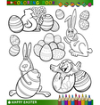easter cartoon themes for coloring vector image vector image