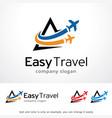 easy travel logo template design vector image