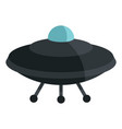 flat cartoon spaceship ufo object isolated on vector image vector image