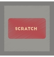 Flat shading style icon scratch card