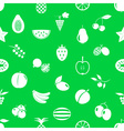 fruit theme icons set green and white seamless vector image vector image