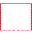 full-frame border with red cartoon hearts and vector image vector image