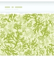 Green underwater seaweed horizontal torn seamless vector image vector image