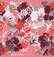 hawaiian surf style hibiscus flowers vector image vector image