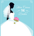 here comes the bride template flyer for the vector image vector image