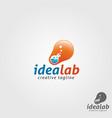 idea lab logo template vector image