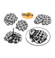 ink sketch waffles vector image vector image
