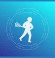 lacrosse player icon vector image vector image