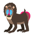 mandrill icon cartoon style vector image vector image