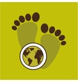 map earth environment ecological green footprints vector image vector image