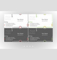 minimalistic business card templates set vector image vector image