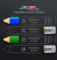 Modern Infographic Template with Pencil vector image