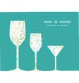 mysterious green garden three wine glasses vector image vector image