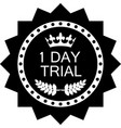 one day trial icon vector image vector image