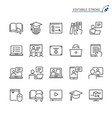 online education line icons editable stroke vector image