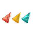party hat set for holiday design vector image