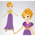 Princess In Romantic Purple Dress vector image vector image