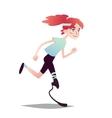 Prosthetic Girl Running vector image vector image