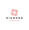 red diamond logo icon vector image