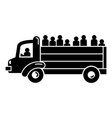 refugee people truck icon simple style vector image vector image