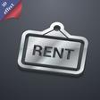 Rent icon symbol 3D style Trendy modern design vector image