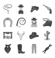 Rodeo set icons in monochrome style Big vector image vector image