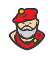 scottish man in a kilt cartoon vector image