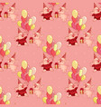 seamless pattern with cartoon pigs in party vector image vector image
