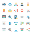 SEO and Marketing Colored Icons 2 vector image vector image