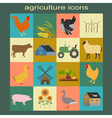 Set agriculture animal husbandry icons vector image vector image