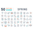 set line icons spring vector image