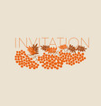 simple orange rowanberry pattern for autumn vector image vector image